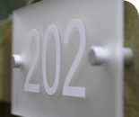 Frosted Acrylic house signs
