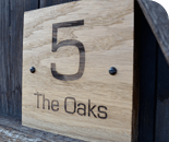Oak house signs